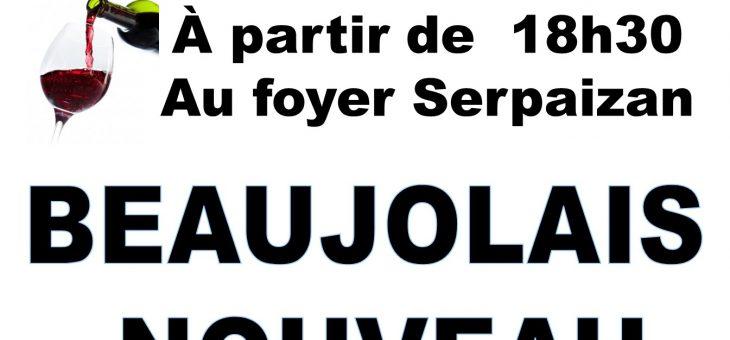 Soirée Beaujolais Nouveau 2018 – 16 novembre 2018
